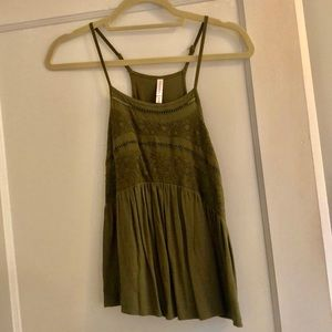 Target olive green tank top